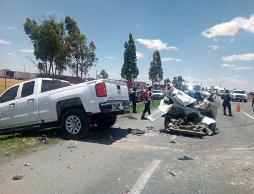 Muere mujer en accidente automovilístico en Calera