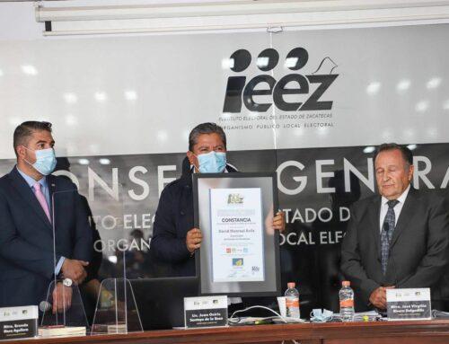 RECIBE DAVID MONREAL CONSTANCIA DE GOBERNADOR ELECTO